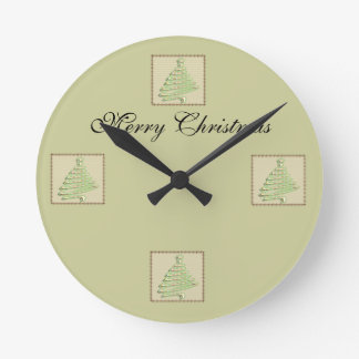 Árbol de navidad lindo de moda del remiendo reloj