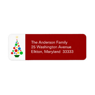 Árbol de navidad lindo - etiquetas del remite etiqueta de remite