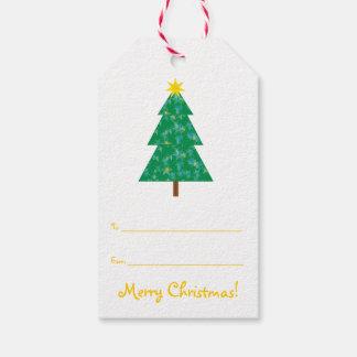 Árbol de navidad lindo etiquetas para regalos