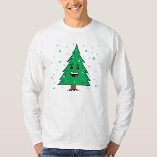 Árbol de navidad lindo - manga larga para hombre playera