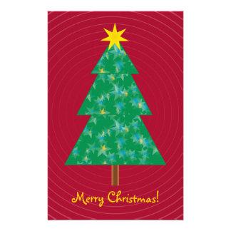 Árbol de navidad lindo personalized stationery