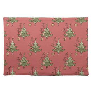Árbol de navidad lindo Placemat Mantel