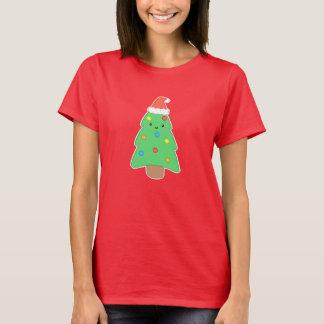 Árbol de navidad lindo playera