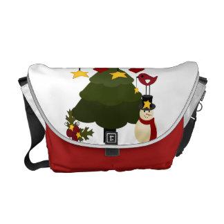 Árbol de navidad lindo que adorna las estrellas de bolsa de mensajería