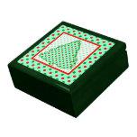 Árbol de navidad: Lunares rojos y verdes Caja De Joyas