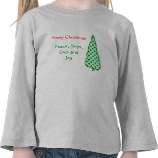 Árbol de navidad: Lunares rojos y verdes Camiseta