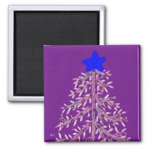 Árbol de navidad Magnet-6 Imán Cuadrado