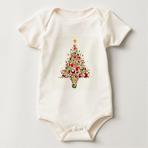 Árbol de navidad mamelucos de bebé