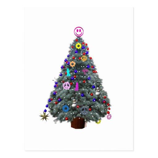 Árbol de navidad maravilloso del Hippie Postal