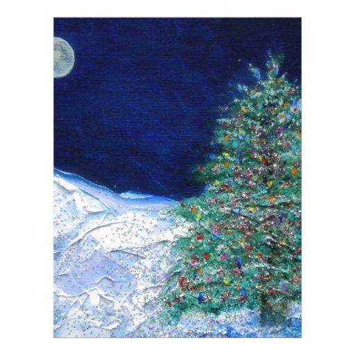 árbol de navidad membrete personalizado