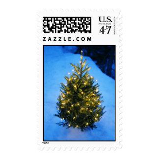 Árbol de navidad minúsculo sellos postales