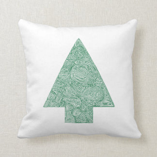 Árbol de navidad moderno cojín decorativo