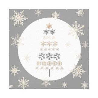 árbol de navidad moderno del copo de nieve del impresion de lienzo