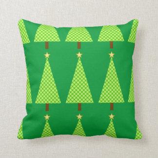 Árbol de navidad moderno del lunar de la verde lim almohada