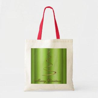 Árbol de navidad moderno del oro bolsa tela barata