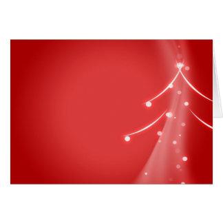 Árbol de navidad moderno Swoosh Tarjeta De Felicitación