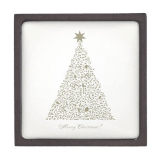 Árbol de navidad musical cajas de regalo de calidad