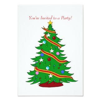 """Árbol de navidad musical invitación 5"""" x 7"""""""