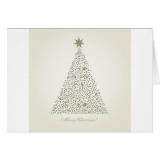 Árbol de navidad musical tarjeta de felicitación