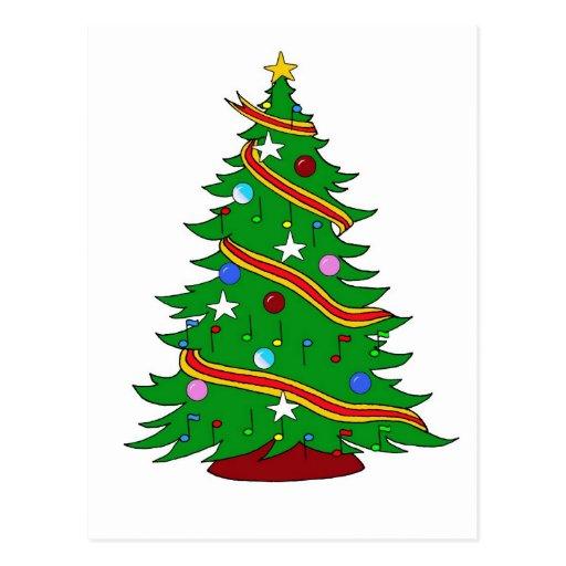 Árbol de navidad musical postales