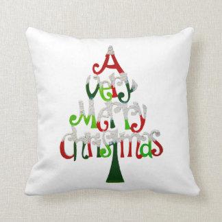 Árbol de navidad muy feliz cojin