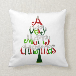 Árbol de navidad muy feliz cojín