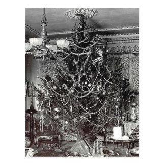 Árbol de navidad nostálgico tarjeta postal