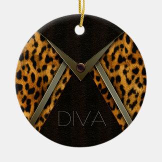 Árbol de navidad Onaments del leopardo Ornamento Para Arbol De Navidad