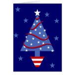 Árbol de navidad patriótico tarjetón