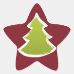 Árbol de navidad pegatina forma de estrella personalizadas