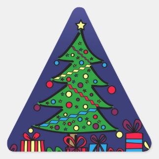 Árbol de navidad calcomanías de trianguloes personalizadas