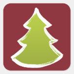 Árbol de navidad calcomania cuadradas personalizadas