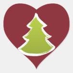 Árbol de navidad pegatina corazón personalizadas