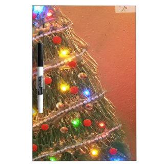 árbol de navidad tableros blancos