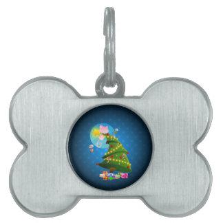 Árbol de navidad placas de nombre de mascota