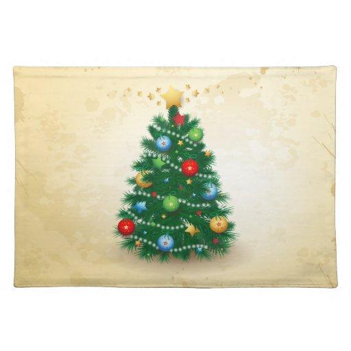 Árbol de navidad, placemat manteles individuales