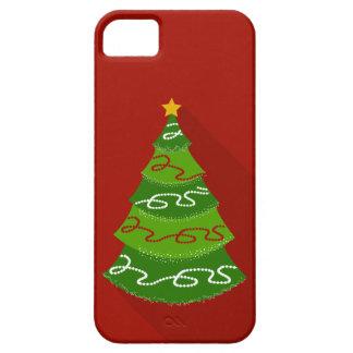 Árbol de navidad plano del diseño funda para iPhone SE/5/5s