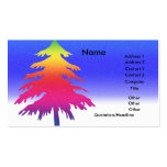 Árbol de navidad plantillas de tarjeta de negocio