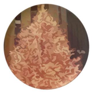 Árbol de navidad plato de cena