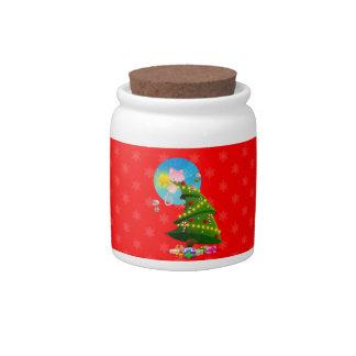 Árbol de navidad plato para caramelo
