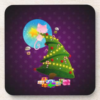 Árbol de navidad posavaso