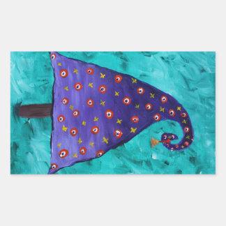 Árbol de navidad púrpura caprichoso rectangular altavoces