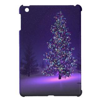 Árbol de navidad púrpura iPad mini cárcasas