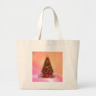 Árbol de navidad que brilla intensamente: bolsa tela grande