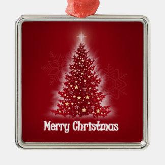 Árbol de navidad que brilla intensamente con las ornaments para arbol de navidad