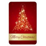 Árbol de navidad que brilla intensamente - imán fl