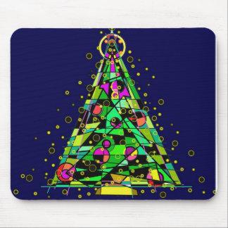 Árbol de navidad que brilla intensamente tapetes de raton