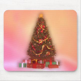 Árbol de navidad que brilla intensamente: alfombrillas de ratón