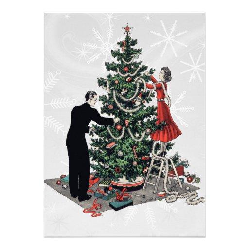 Árbol de navidad retro anuncios