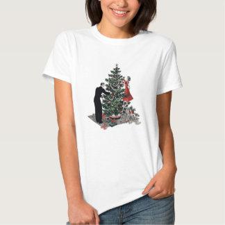 Árbol de navidad retro camisas